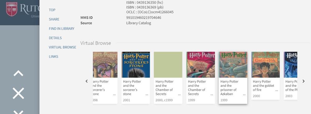 screenshot of virtual browsing