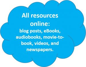 Tag clougd with online resources