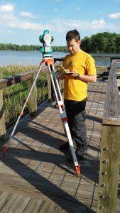 student surveying