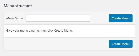 Create menu naming prompt