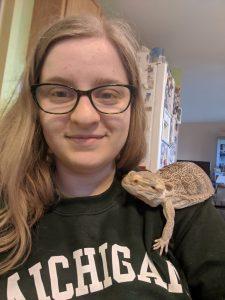 Natasha with a lizard