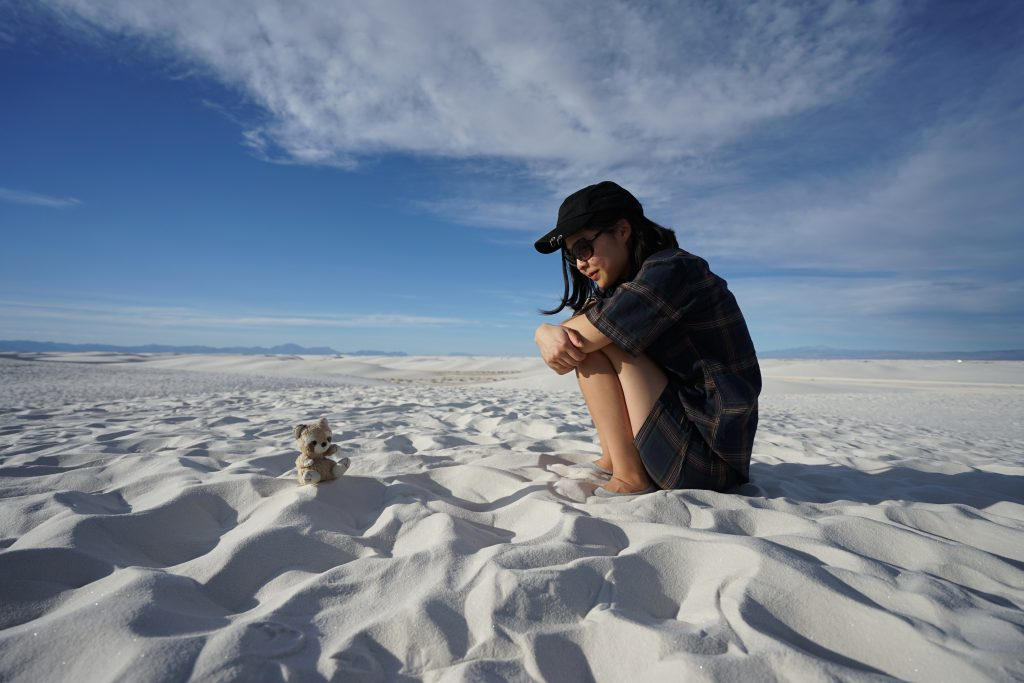 At White Sands National Park, New Mexico