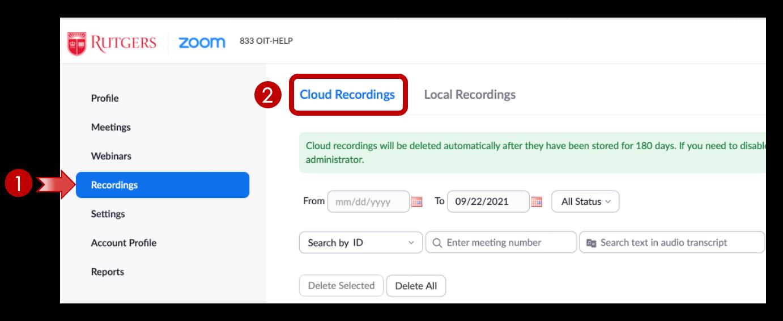 Zoom: Cloud Recordings