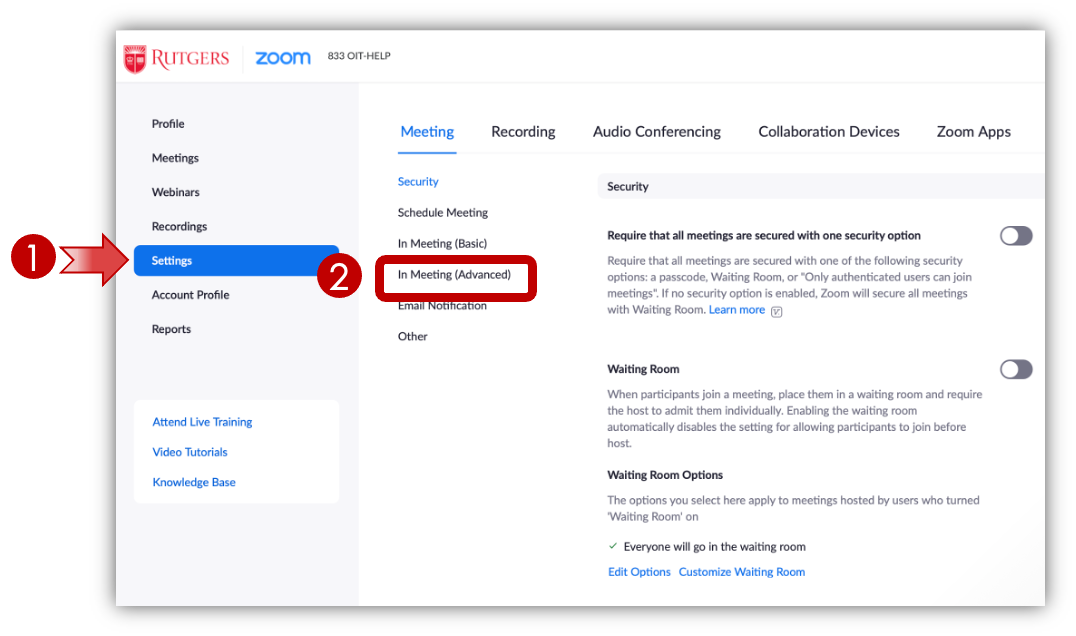 Zoom: Navigate to In Meeting (Advanced)