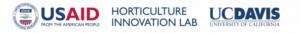 USAID logo, Horticulture Innovation Lab, UC Davis logo